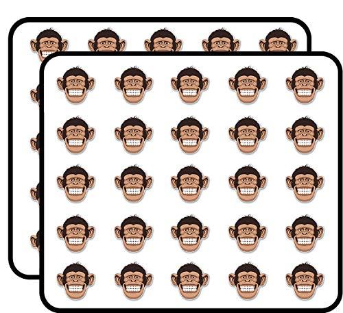 Cheeky Monkey Sticker for Scrapbooking, Calendars, Arts, Kids DIY Crafts, Album, Bullet Journals 50 Pack