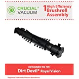 Dirt Devil/Royal Vision Style Brushroll Assembly; Fits Most Vision Vacuums; Compare to Dirt Devil Part No. 2JC0110000; Designed & Engineered by Think Crucial