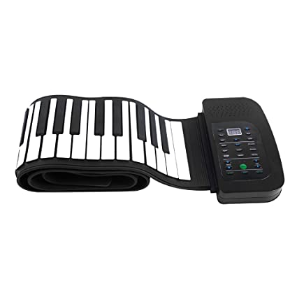83055d0715f Andoer Portable 88 Keys Silicone Flexible Roll Up Piano Foldable Keyboard  Hand-rolling Piano with