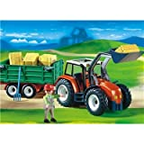 Playmobil Tractor With Hay Trailer