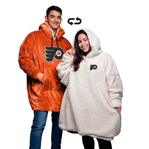 (NHL Philadelphia Flyers Unisex Reversible Big Logo Hoodeez, Team Color )