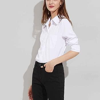 Blusa blanca dividida lateral de la calle alta de las mujeres ...