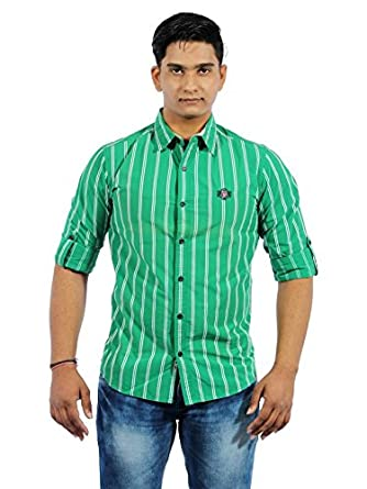 a6cce798 RAW STUDIO MUFTI MOGUL SLIM GREEN MENS CASUAL T-SHIRT size L: Amazon.in:  Clothing & Accessories