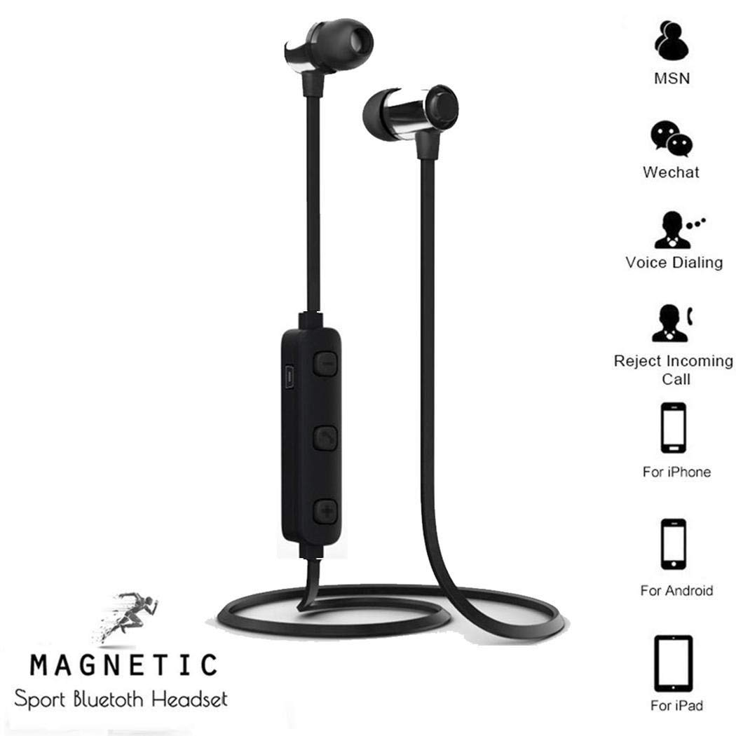 yerflew Neckband Waterproof Sporting Earphones Stereo Bluetooth Wireless Earphones Earbud Headphones