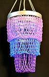 Blue Purple Violet Chandelier Beaded Light Hanging Lamp HLL09-PV Review