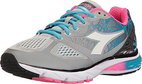 Diadora Women's Mythos Blushield Bright Running Shoes (10 B(M) US Women's, Silver / White)