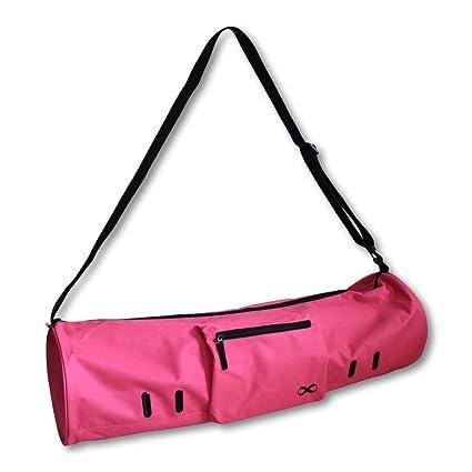 YogaAddict bolsa grande para esterilla de yoga «compacta» con bolsillos y cremallera, ideal para la mayoría de alfombrillas, extra ancha, correa ...