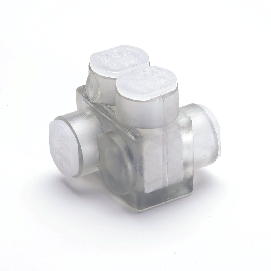 Burndy BITO250 Unitap Clear Insulated Multiple Tap Connector, 10-250 ...