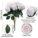 Greentime-Artificial-12-Heads-Vintage-Rose-Flowers-Faux-16-Inches-Silk-Rose-Bouquet-for-Wedding-Bridal-Home-Party-Valentines-Day-Holiday-Decoration-White