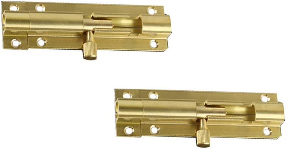 BTMB Door Security Guards U Swing Bar Lock as Secondary Security Latch for Home Hotel Office Sliver