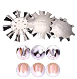 WOKOTO 3pcs Easy French Smile Line Gel Cutter Tool Staniless Steel C-Shape Manicure Edge Trimmer Diy Plate Module (3 Patterns)