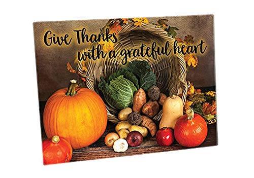Positive Image Gifts Tempered Glass Cutting Board Give Thanks 16