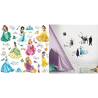 RoomMates Disney Princess Royal Debut Peel and Stick Wall Decals and RoomMates Disney Frozen Peel and Stick Wall Decals: Home Improvement
