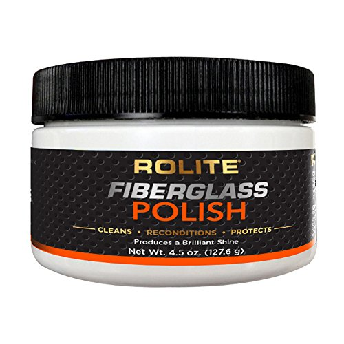 Rolite Fiberglass Polish (4.5oz) for Removing Water Spots, Staining, Oxidation & Hairline Scratches on Boats, Clearcoat, Acrylic and - On Scratches Glasses Hairline
