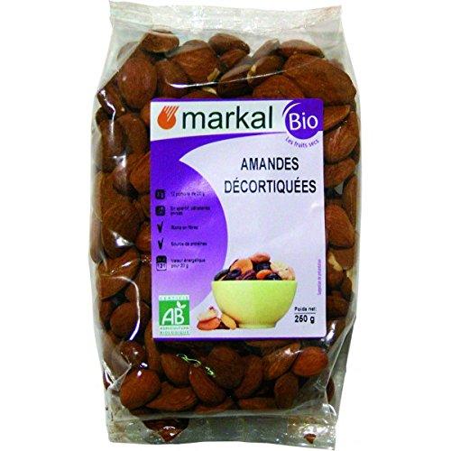 Almendras peladas Bio, Almendras crudas sin sal, almendras natural | 250g | Markal: Amazon.es: Alimentación y bebidas