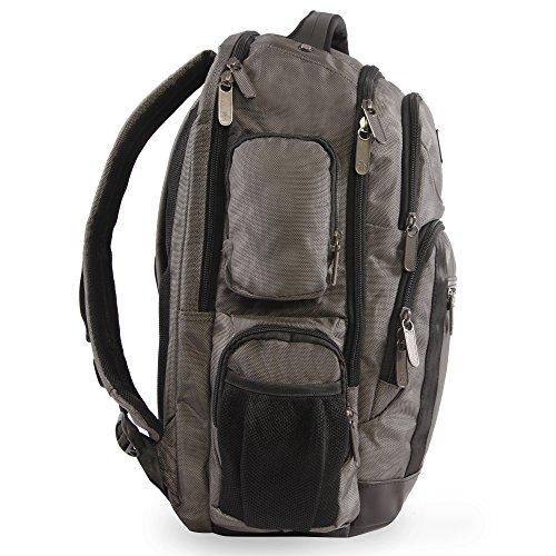 51DRMG4ZK%2BL - ORIGINAL PENGUIN Odell 9 Pocket Laptop/Tablet Backpack Briefcase, Charcoal, One Size