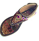 multi colored sandals - Nora Angels Colorful Handcrafted Embroidered Womens Summer Wear Flat Sandals (US 6)
