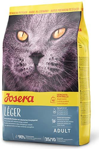 JOSERA Léger (1 x 2 kg) | Katzenfutter mit wenig Fett | für übergewichtige oder sterilisierte Katzen | Super Premium…