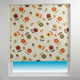 Sunlover Patterned Thermal Blackout Roller Blind, Daisy, W90cm