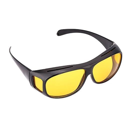 2d7db4b238 Amazon.com  Unisex UV400 HD Vision Driving Sunglasses Wrap Around Glasses  Anti Glare  Clothing