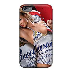 DrawsBriscoe Apple Iphone 6 Plus Shock Absorbent Cell-phone Hard Covers Customized Attractive Budweiser Series [fmB66tpJq]
