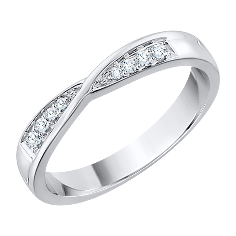 Diamond Wedding Band in Sterling Silver (1/20 cttw) (GH-Color, I2/I3-Clarity) (Size-9.75)