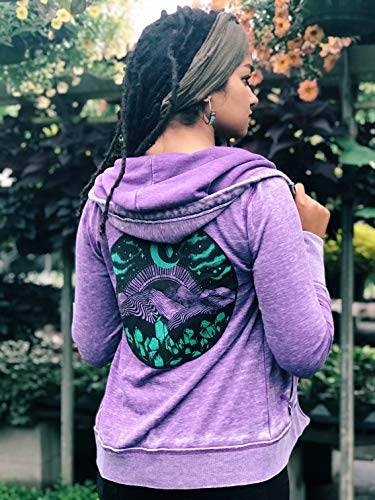 Glow in the Dark Appalachia Purple Acid Washed Zip Up Hoodie by Brain Candy Ink