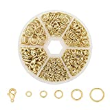 Wholesale 1350 PCS 14K Gold Solid Brass Open Jump