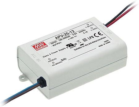24V DC 0,5A 12W LED Netzteil SNT Meanwell APV 12-24