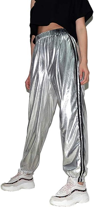 Nensiche - Pantalones de chándal para Mujer con Bolsillos: Amazon ...