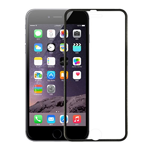 iPhone 7 Screen Protector, Quirkio [Tempered Glass] iPhone 7 Glass Screen Protector [3D Curve Fit & Full Coverage] [3D Touch Compatible] iPhone 7 Tempered Glass (2016) (Black) Photo #1