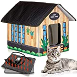 PETYELLA Outdoor Cat House Feral Cat Shelter (Heated) - Easy to Assemble - Cat Houses for Outdoor Cats