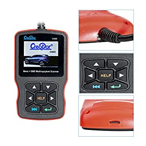 Creator C502 Code Reader Full System Scanner for Mercedes Benz with OBDII EOBD CAN Engine Fault Scanner