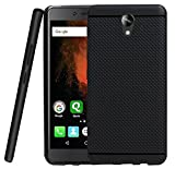 Jkobi Classic Dotted Designed Soft Rubberised Back Case Cover For Micromax Canvas 6 Pro E484 -Black