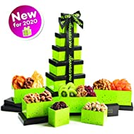 Gourmet Gift Basket, Dried Fruit & Nut Tower Box (12 Variety) Healthy Food Edible Arrangement for Easter, Mothers & Fathers Day, Family Birthday Tray, Snack Platter for Women & Men - Prime Delivery