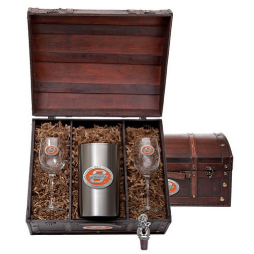 Oklahoma State Cowboys Team Logo Wine Gift Set by Heritage Pewter