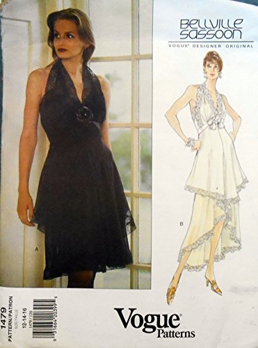 bellville-sassoon-vogue-designer-original-sewing-pattern-1479-misses-halter-dress-evening-gown-sizes