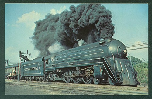 Cincinnatian B&O 53 Toledo Ohio Bullet Train Steam Water Stop Railroad Postcard