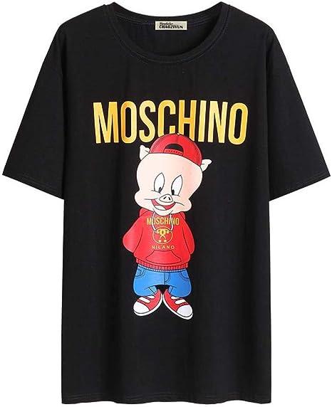 O&YQ Camiseta de Manga Corta Holgada de Verano con Camiseta Negra para Mujer, Negro, s: Amazon.es: Deportes y aire libre