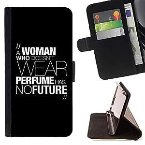 BullDog Case - FOR/Samsung Galaxy A3 / - / woman perfume fashion dress text message /- Monedero de cuero de la PU Llevar cubierta de la caja con el ID Credit Card Slots Flip funda de cuer