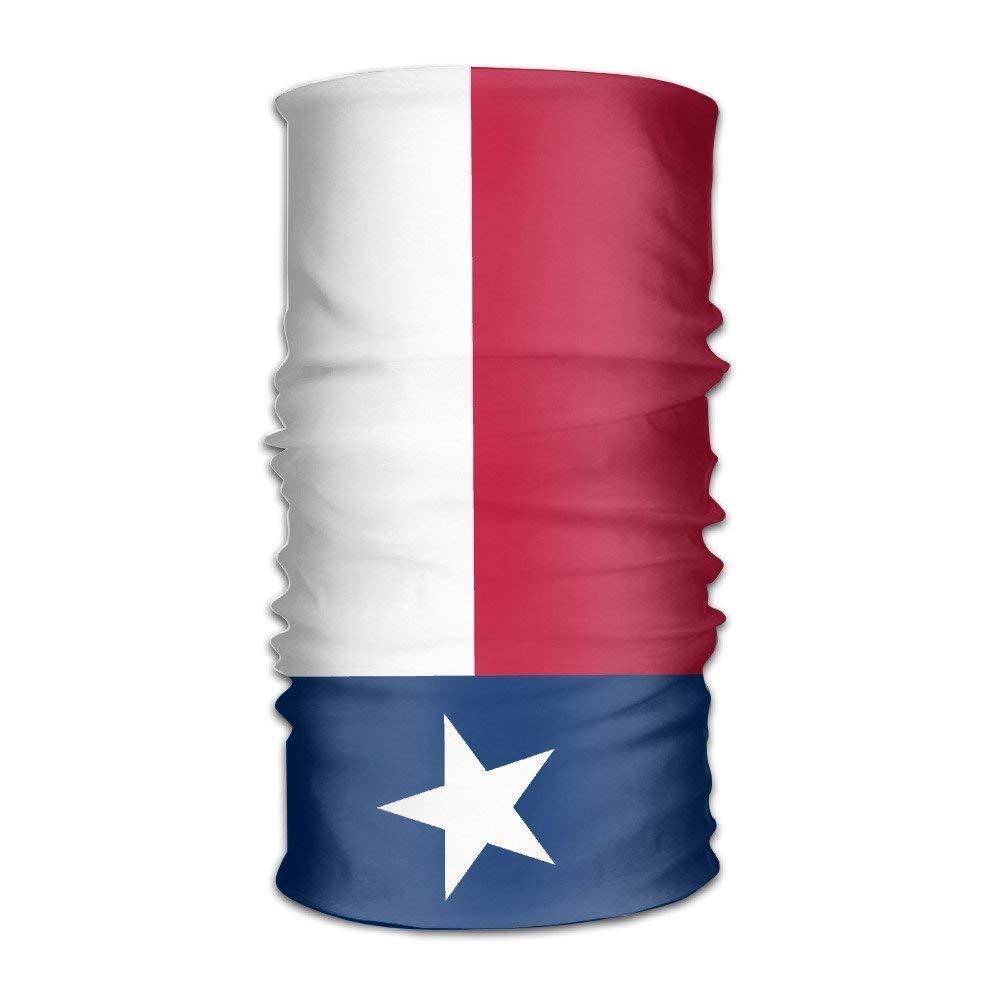 NDJHEH Bandeau Headband Bandanas Flag of Texas Versatile Multifunction Headwear Neck Gaiter Balaclava Helmet Liner Riding Face Mask for Kids Women Men Outdoors UV Protection