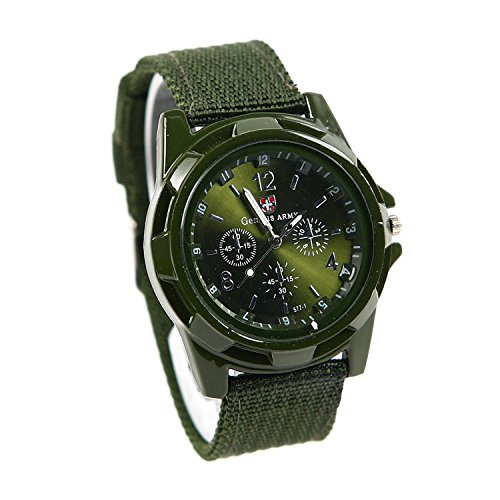 LsvtrUS Men's Sport Style Swiss Military Army Pilot Fabric Strap Watch - Watch Swiss Accessories Army