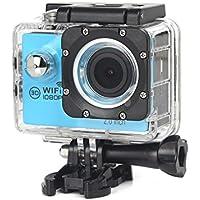 Boyiya New Full HD 1080P WIFI H16 Waterproof Action Sports Camera Camcorder 2 inch Ultra HD display screen (Blue)