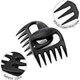 KITCHENDAO Pulled Pork Shredder Claws-Solid Construction, Patented Safety Lock, BPA Free, Dishwasher Safe, Easy to Clean, No Crevices For Meat To Get Stuck In, 475°F Heat Resistant by