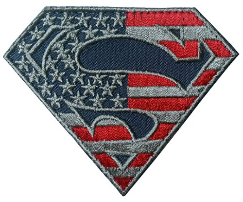 Hook Superman S Shield US Flag Subdued Tactical Morale Patch