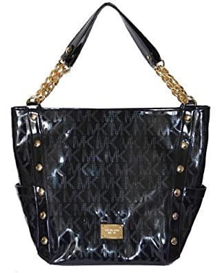 Amazon.com: Michael Kors Black MK Mirror Metallic