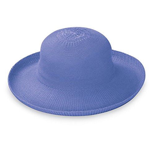 Wallaroo Hat Company Women's Petite Victoria Sun Hat - Perfect for Smaller Heads - Hydrangea (Hat Hydrangea)