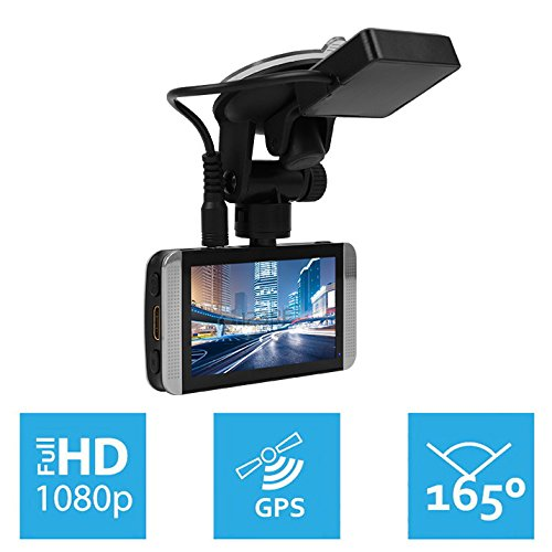KDLINKS X1 GPS-Enabled Full HD 1920 1080 165 Degree Wide Angle Dashboard Camera Recorder Car Dash Cam with G-Sensor