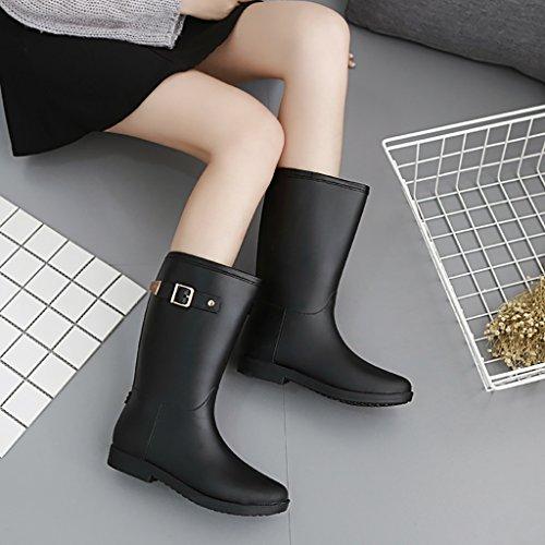 Wellington Lady Rain Boots Rubber Rain Boots Black jjXGmY7