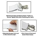 Bed Sheet Holder Straps, Adjustable Bed Sheet Fastener and 3 Way Mattress Cover Holder Fasteners the Triangle Bed Sheet Keeper with Heavy Duty Grippers Clips (Triangle White Set of 4)